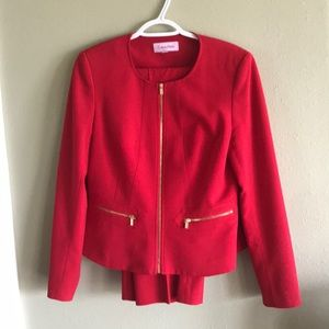Calvin Klein size 8 red pantsuit